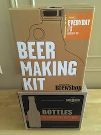 Beer making kit with 16 bottles