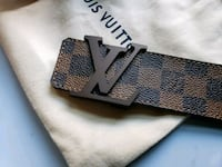 Louis Vuitton Brown Belt Unisex Malden, 02148