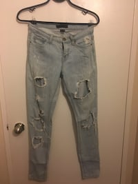 distressed blue-washed jeans Toronto, M6S 1M8