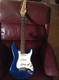 blue electric guitar Lancaster, 93534