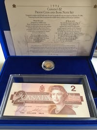 1996 Royal Canada Mint Proof Coin and Note Set  Fort McMurray, T9J 1G5
