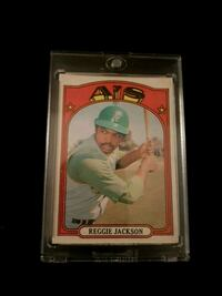 1972 Oakland great reggie jackson card