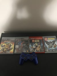 LIKE NEW CONDITION PS3 CONTROLLER WITH 4 GAMES $50 OBO
