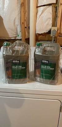 Brand new never opened 1 gallon all in one wood cleaner. Cleans brightens and removes mold and mildew stains.