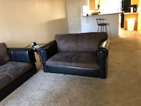 2 Black and gray suede couches Mesa, 85210