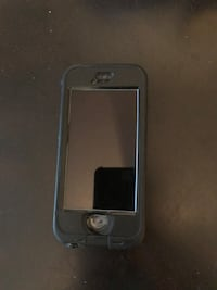 Black iPhone 5s with case