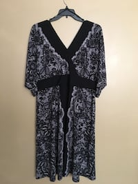 black and gray floral long-sleeved dress Fort Washington, 20744