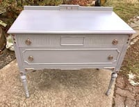 French gray solid wood petite buffet server  Kensington, 20895