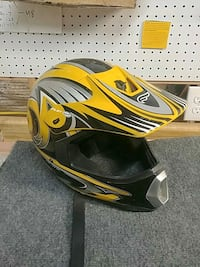 yellow and black full-face motorcycle helmet Frederick, 21702