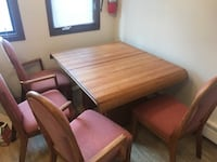 Sturdy dining table and chairs