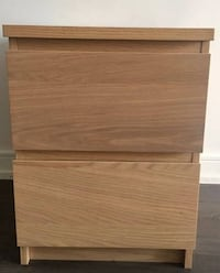 brown wooden 2-drawer chest Toronto, M9L 1H6
