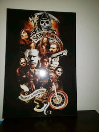 Son's of Anarchy Wooden Wall Art  Kitchener, N2C 2S1
