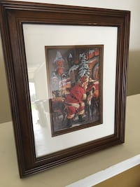 Santa framed and matted picture. Waukesha town, 53189