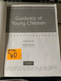ECE Textbook: Guidance of Young Children - Marion (8th Ed.) Toronto, M1G