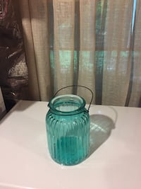 Ribbed glass lanterns in teal and purple color Woodbridge, 22192