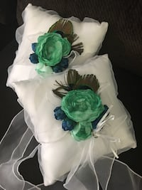 Peacock ring bearer pillows