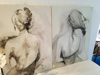 Two female paintings