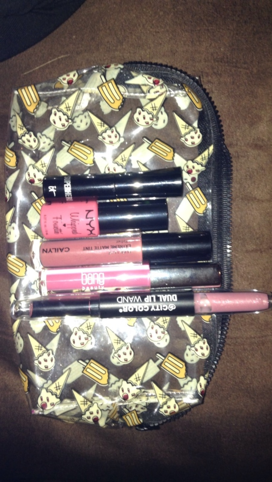 All lip products (5 of them)