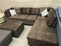 Brand new large brown fabric sectional sofa with storage ottoman warehouse sale  多伦多, M1P 2M7