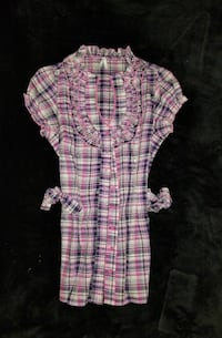white, purple, and gray cap sleeve button-up top Temecula, 92590