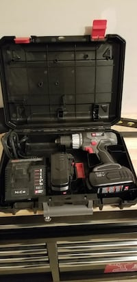 gray-red-and-black cordless power drill kit with case Gainesville, 20155