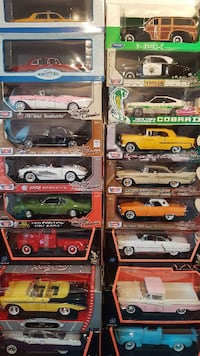 14 car models 1:18 scale