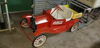 classic red Coca-Cola ride-on toy