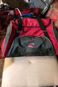 Alabama duffle bag /. gym bag.. red and tray with