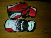 pair of red-and-black hockey elbow pads Burlington, L7M 4A7