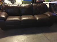 Leather sofa and loveseat, good condition. Lake Forest
