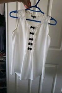 White blouse with black bows Mississauga