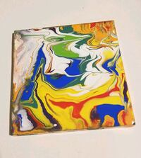yellow, red, and blue abstract painting Capitol Heights, 20743