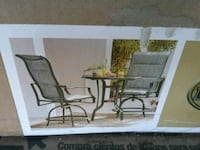 Outdoor patio furniture (bistro set),brand new in box+ other items.