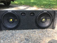 Black Kicker subwoofer with enclosure High Point, 27265