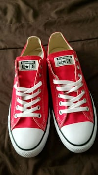 pair of red Converse All Star low top sneakers Arlington, 22201