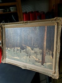 brown wooden framed painting of house Kawartha Lakes, K0M 2T0