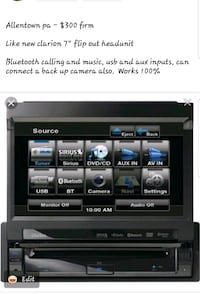 """Clarion 7"""" flip out bluetooth single din radio"""