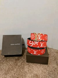 Red LV/Suprme belt Mississauga, L5B 2C9