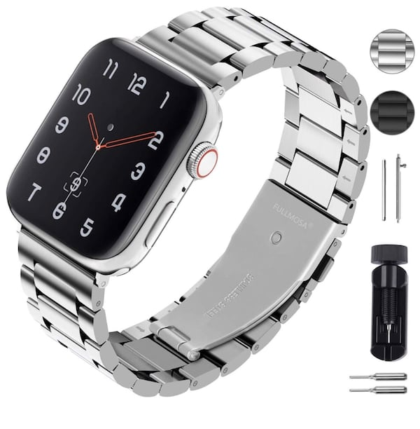 Apple Watch 44mm Stainless Steel Watch Band 281284fe-955e-402c-b6f4-a8ea8f5e78c1