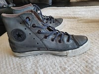 pair of gray Converse all star high top womens Burnaby, V5C
