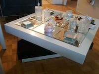 rectangular clear glass top coffee table Toronto, M2R 1Z6