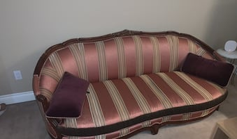 Gorgeous Vintage Satin Couch