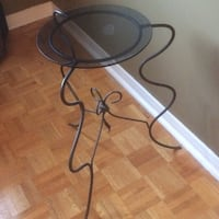 Glass-Top wrought-iron side table 561 km