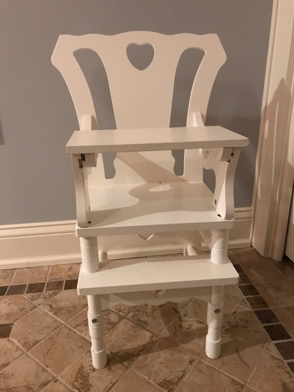 Stupendous Baby Doll White Wooden High Chair Gmtry Best Dining Table And Chair Ideas Images Gmtryco