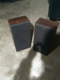 grey and brown rectangular speaker Foster, 02825