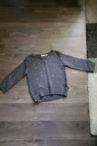 Grey sweater with sequins. Size small - toddler