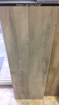 8x48 Rectified porcelain gray colored wood looking planks  Doral, 33122