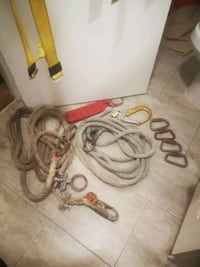 Harnesess with lanyards ropes etc. Sarnia, N7T 1X1