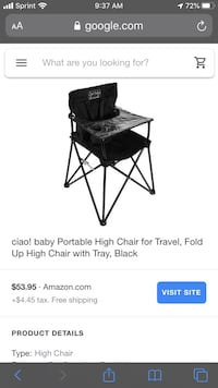 Portable High Chair by Ciao Baby Las Vegas, 89115