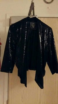 black sequined light jacket.  Burnaby, V5H 1H7
